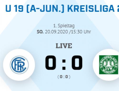 U19 hält stabiles 0-0 zum Kreisligaauftakt gegen Waldperlach