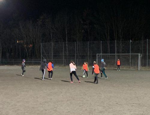 Das erste Training der neu gegründeten Damenmannschaft